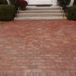 First Parish Church brick walkway